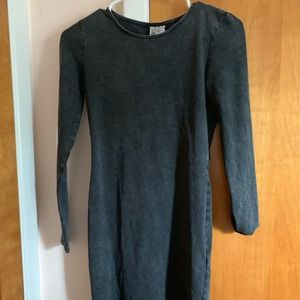 Gray Asymmetric-Length Dress w/ Cutout in Back (S)